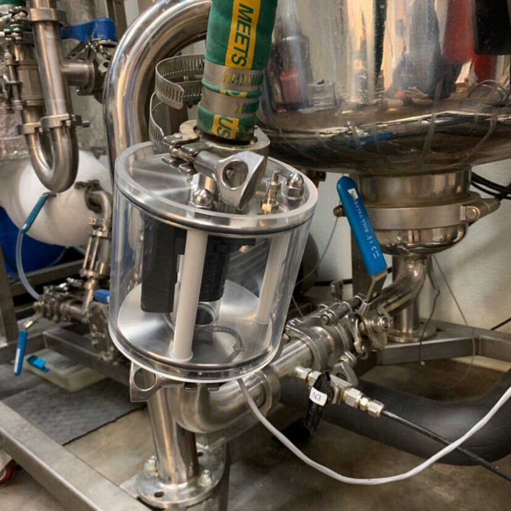 Fraction Finder on a sight glass on an ethanol extractor